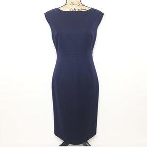 Brooks Brothers Loro Piana Navy Wool Sheath Dress